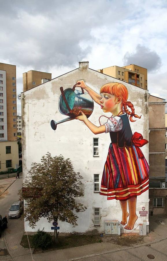 La Leggenda dei Giganti by Natalia Rak a Bialystok, Polonia - Street Art