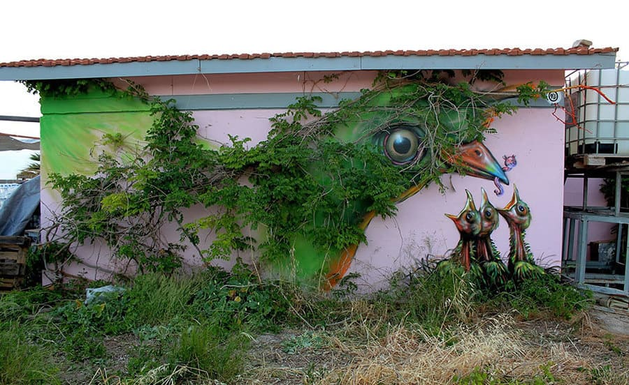 Mother Nature, Athens Greece 2013 di WD Street Art - Street Art