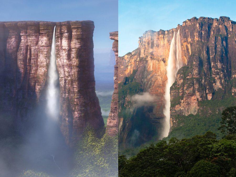 la cascata più alta del mondo - cascate paradiso up disney pixar