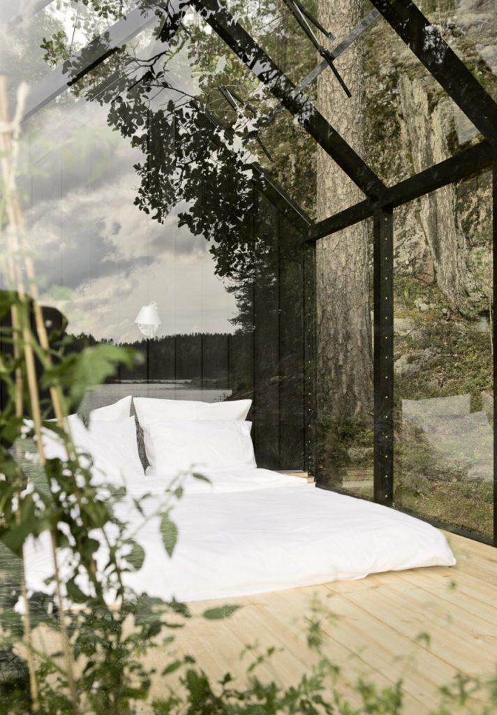 La serra che diventa camera da letto