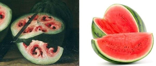 Frutta e verdura - anguria selvatica e moderna a confronto