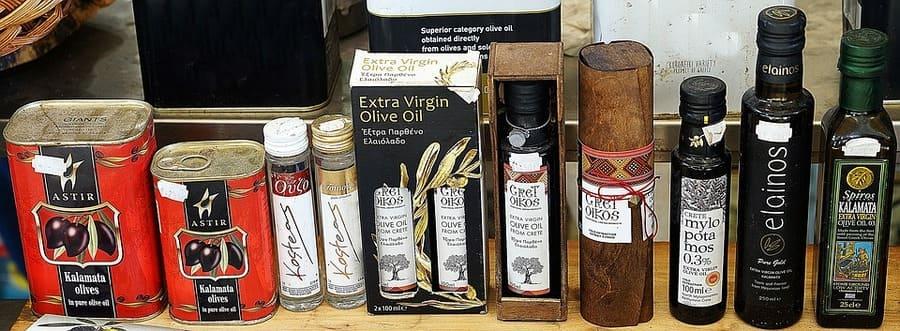 bottiglie olio di oliva